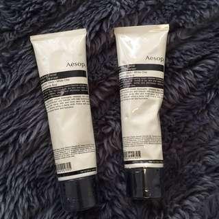 Aesop Purifying Facial Cream Cleanser x2