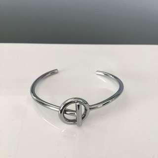 Amber Sceats silver steel Harvie bangle