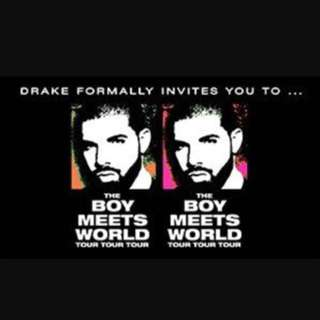 2x DRAKE TICKETS EARLY ENTRY MOSH