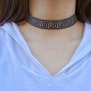 Black & Gold Fabric Choker