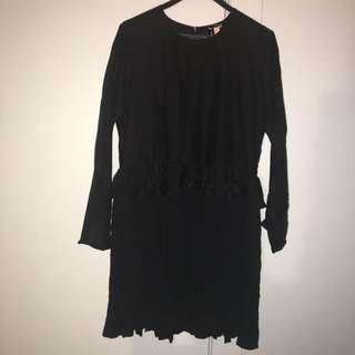 HUFFER Black Dress | size 10