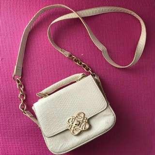 forever new white mini sling bag