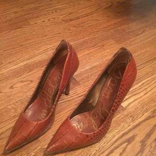 Sam Edelman brown/black heels size 6