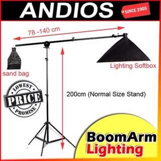 InStock-Studio Photography Lighting BOOM ARM KIT Set_Softbox_Stand