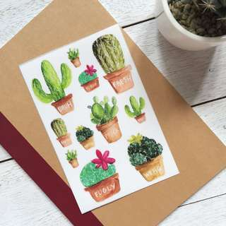 Cactus Sticker Set