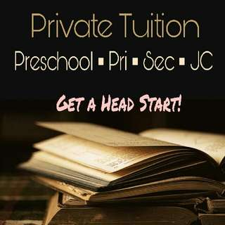 Preschool to JC Home Tuition