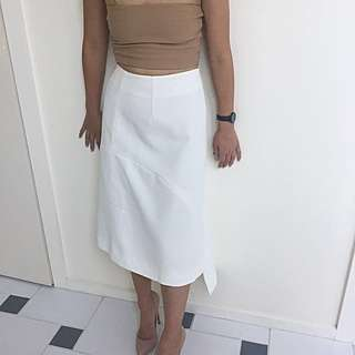 CAMEO COLLECTIVE White Asymmetric Skirt AU 6