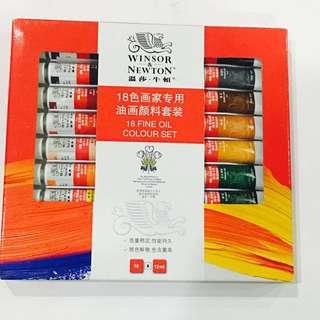 18 Fine Oil Paint Colour set Windsor & Newton