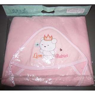 BUNDLE Bnew Pink Towel and Pink Crib Net