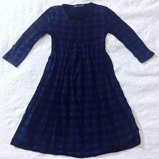 Boohoo Blue Tartan Dress