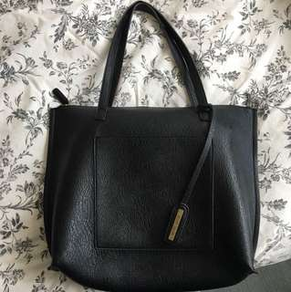 AE leather tote bag