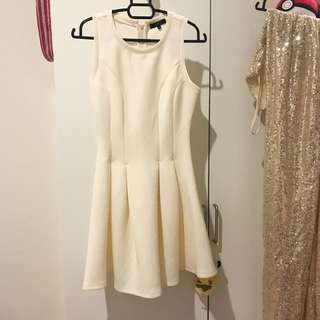 Milky white skater dress
