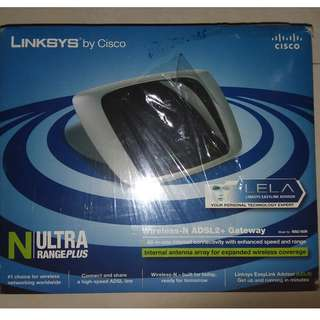 Used Linksys Wireless-N ADSL2+ Gateway WAG160N