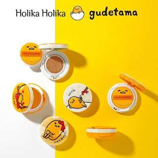 💛SALE💛Holika Holika x Gudetama Lazy & Easy Face 2 Change Photo Ready Cushion #1212YES