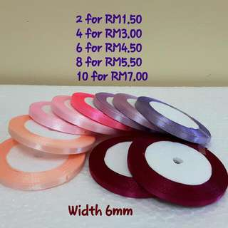 Assorted Colour Ribbons