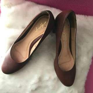 brown applegreen pump shoes