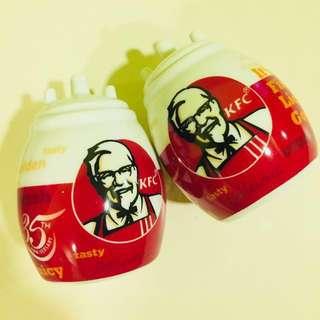 KFC Ceramic Salt & Pepper Shakers