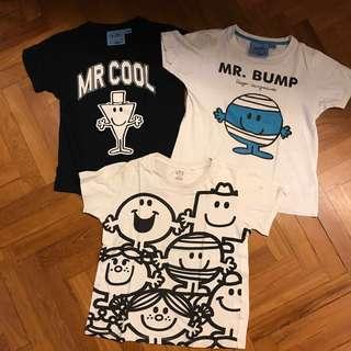 Mr Men boy tees bundle sale (7-10yo)