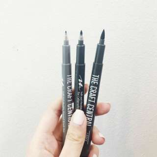 Brush Pens - Set of 3 The Craft Central