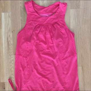 Lululemon pink run tank top size 6