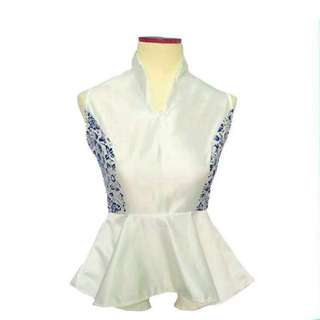 White Batik Satin