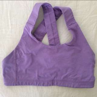 Lululemon purple all sport bra size 6