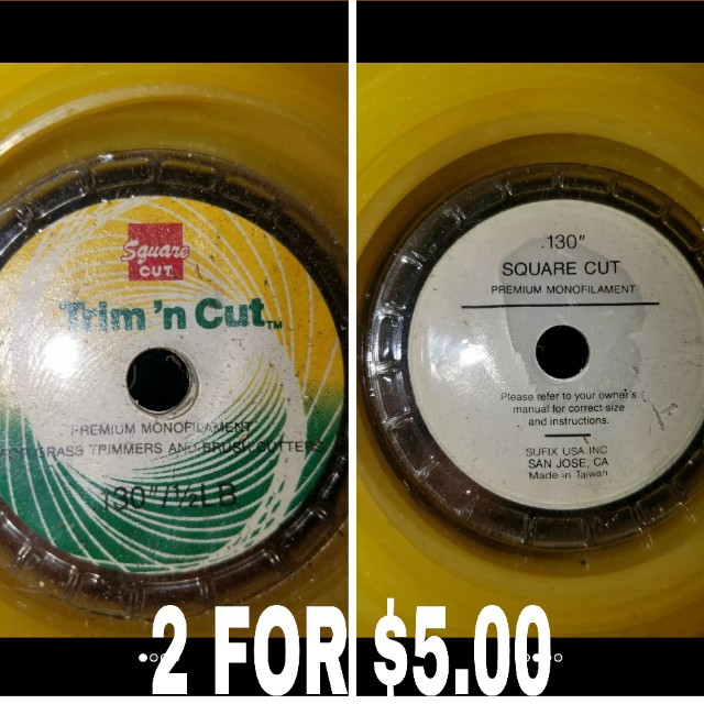2 FOR $5.00 130 commercial weed eater strings