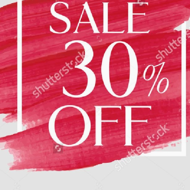 30% off everything!!!