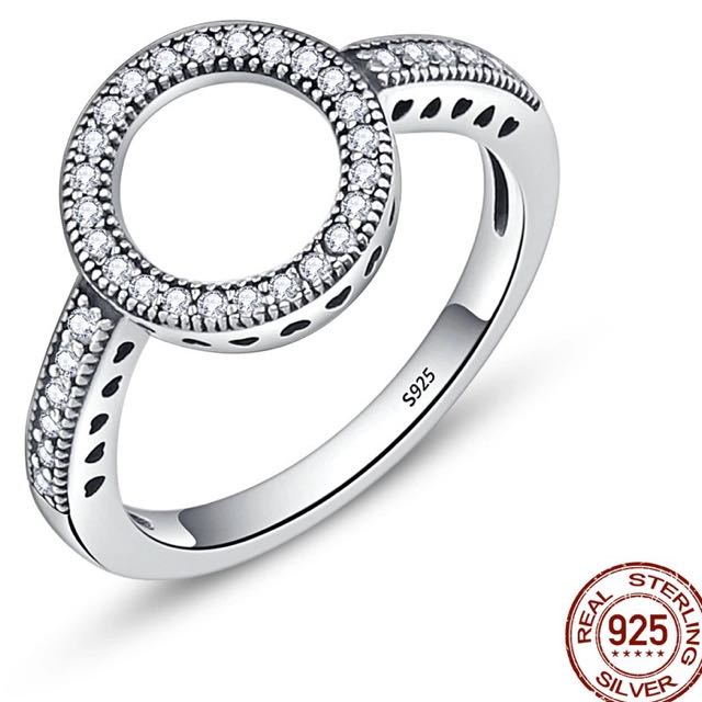 925 silver round ring