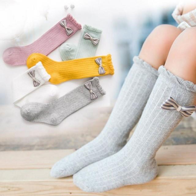 韓國秋冬純棉兒童高筒襪