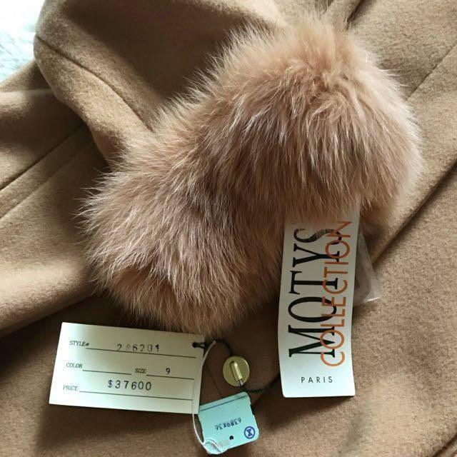 法國品牌 真狐貍毛 原價37600