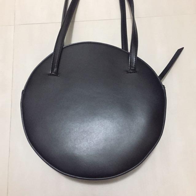 圓形 實用手抽包 側咩袋 側背包