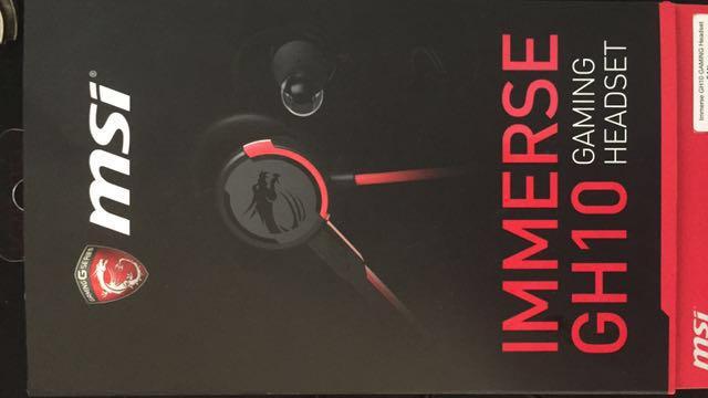 微星 MSI IMMERSE GH10 耳塞式 電競 耳機 麥克風 (含運)