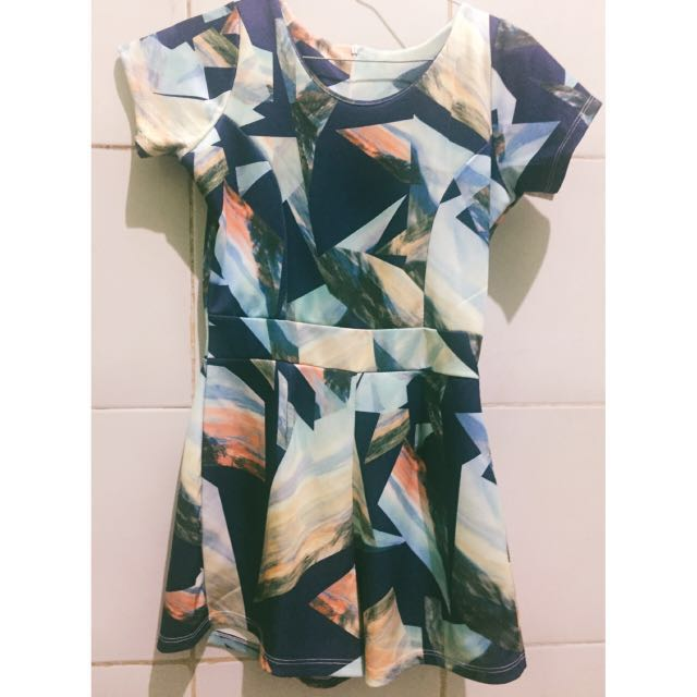 Abstract short jumpsuit