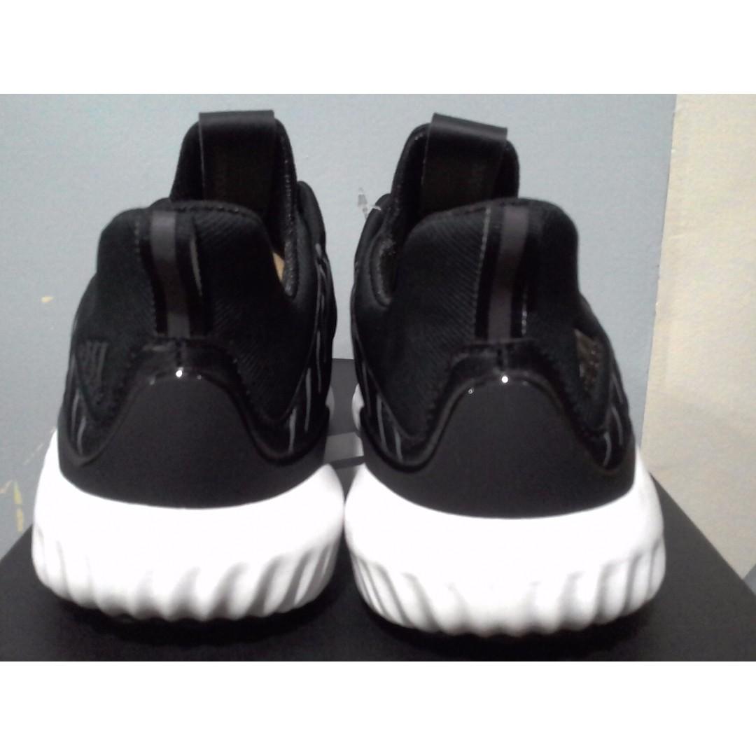 adidas alphabounce hpc uomini 8 bianco nero, nuovo di zecca