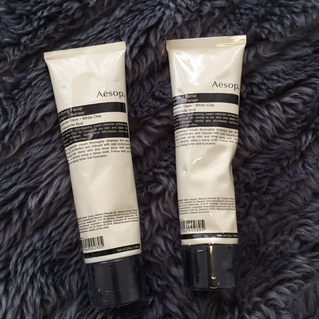 Aesop Purifying Facial Cream Cleanser x2