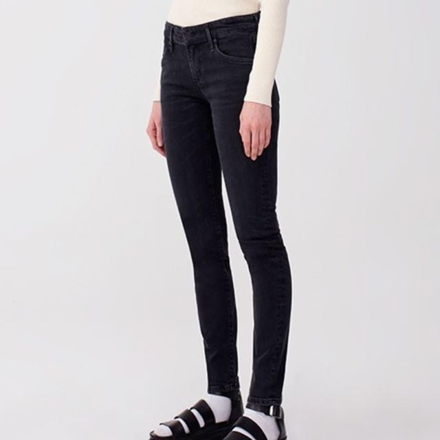 AGOLDE 'Chloe' Low Rise Jeans in Black - Size 26