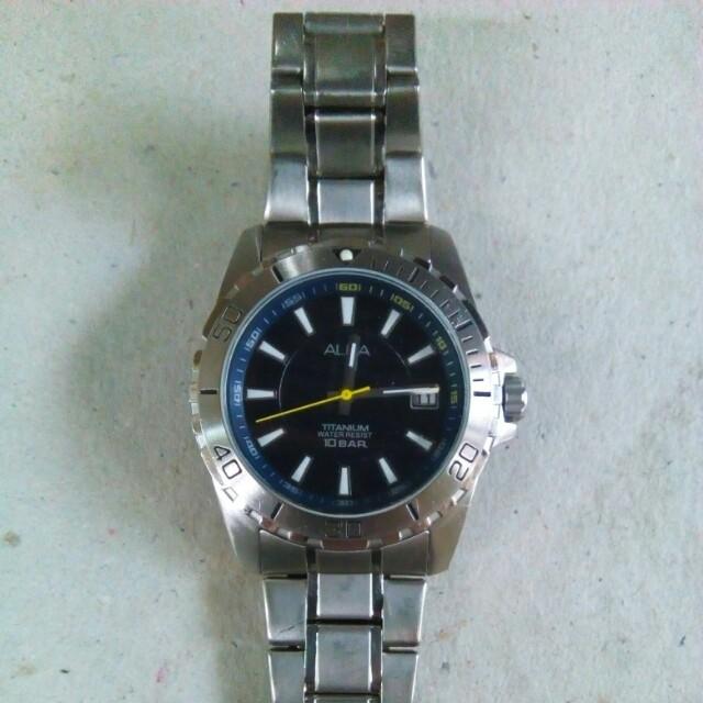 Alba Titanium Date Watch authentic original