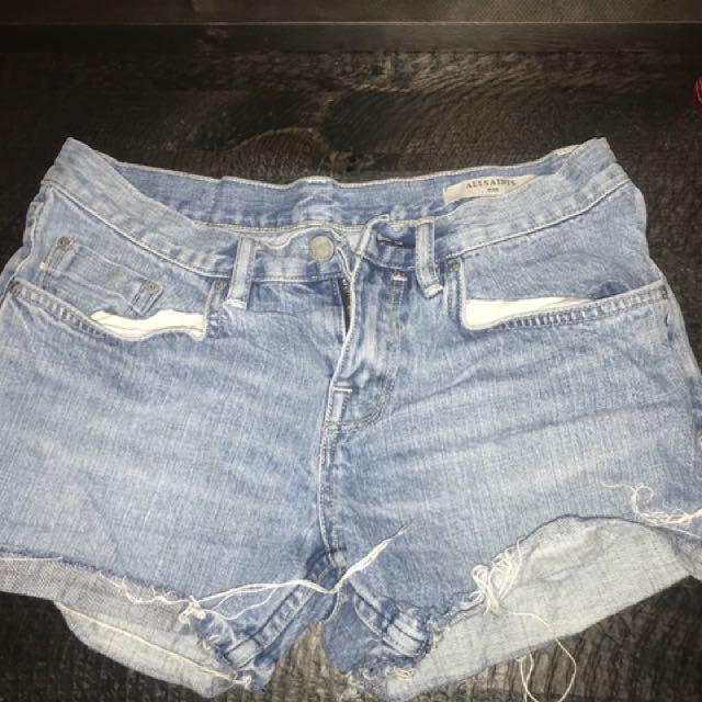 ALLSAINTS Denim Shorts Size 26