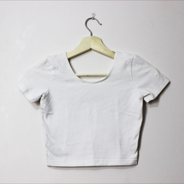 American Apparel Crop In White