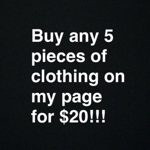 Any 5 clothing/bags/shoes