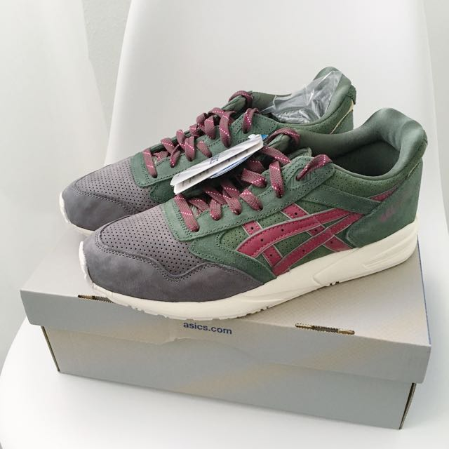 separation shoes dc846 8c602 Asics Gel Lyte III Christmas Pack Green Grey Red Maroon Sneakers