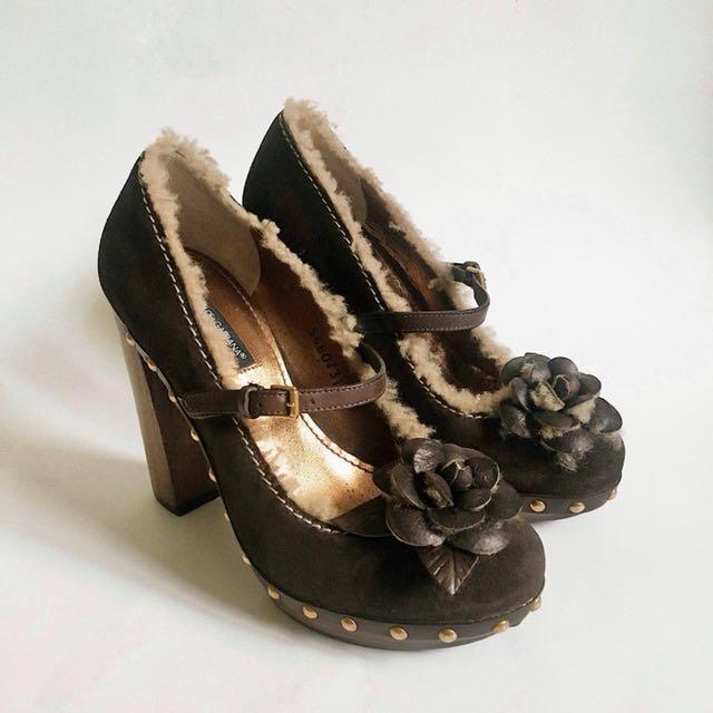 Authentic DOLCE & GABBANA Mary Jane Platform Heels
