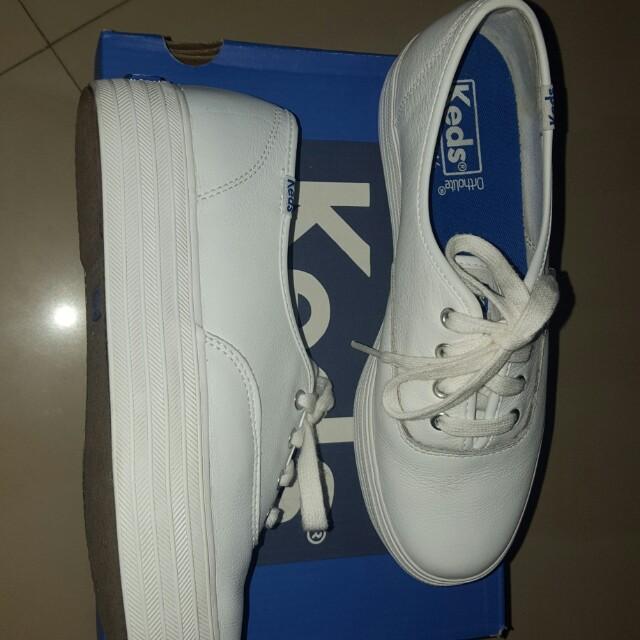 Authentic KEDS triple decker white