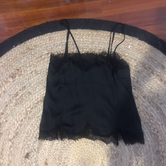 Bardot lace slip