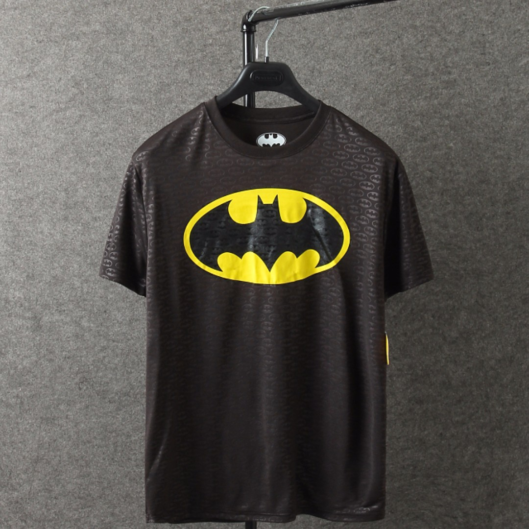 Batman Logo Quick-Dry Material Round Neck T-shirt