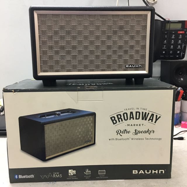 Bauhn - broadway retro speakers with Bluetooth technology