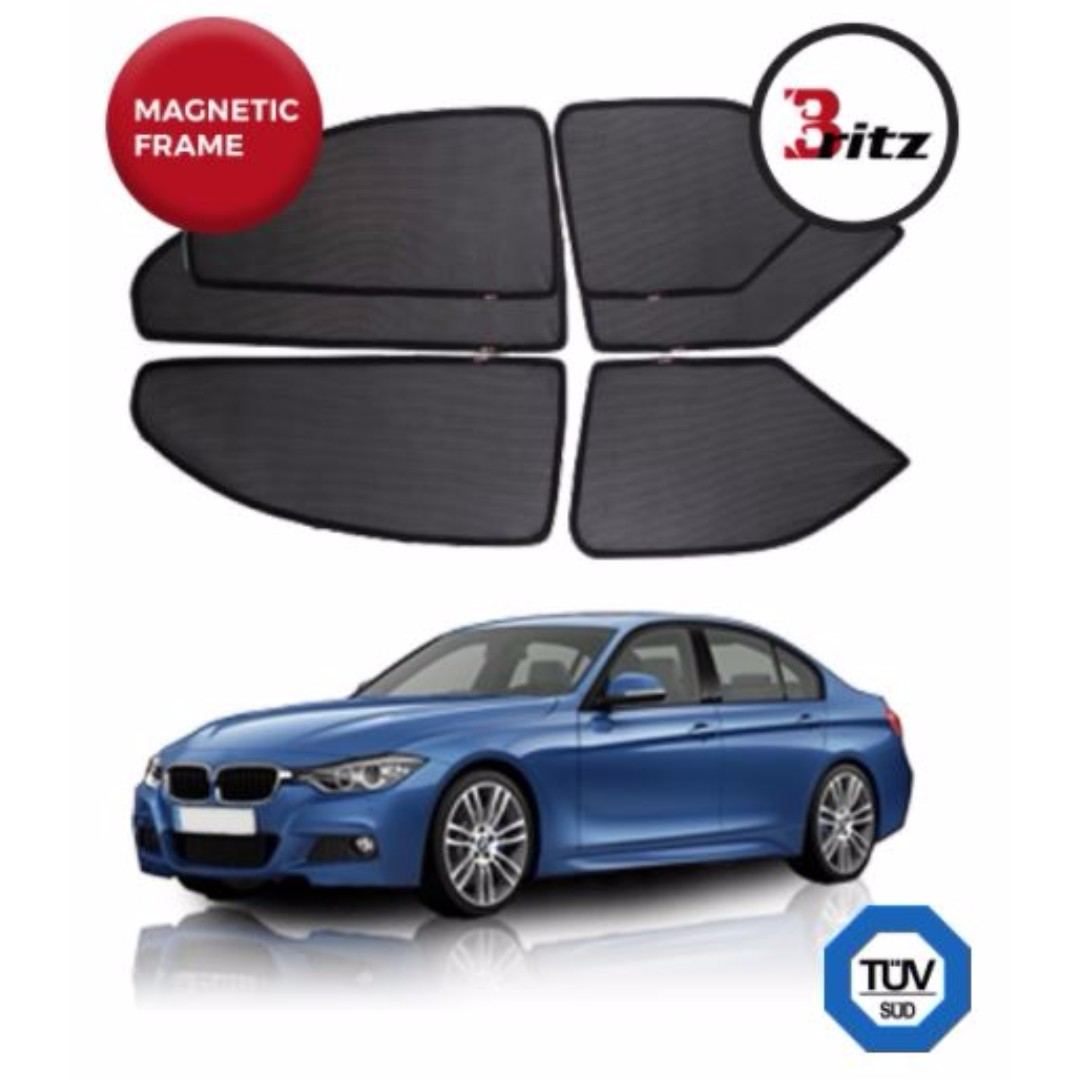 Bmw 3 Series F30 Premium Britz Shades Customised Magnetic Sunshade Car Accessories On Carousell