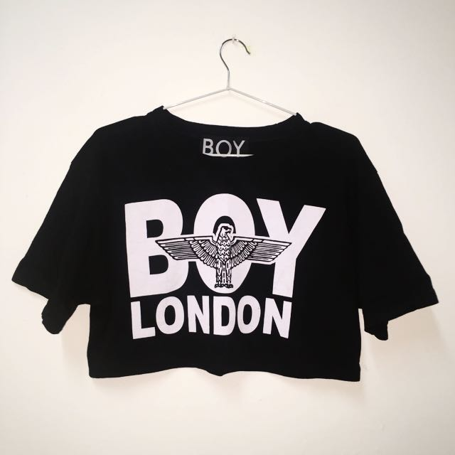 Boy London 正品 倫敦男孩 黑色 短版T 街頭
