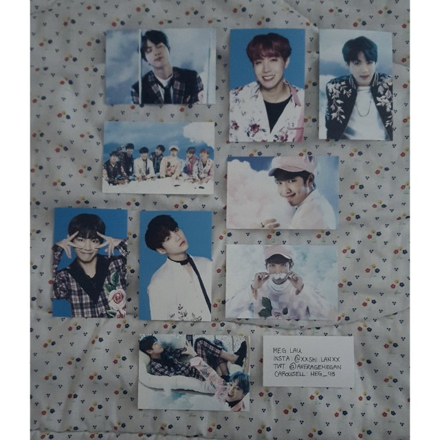 BTS Wings Tour Photocards Ver.1